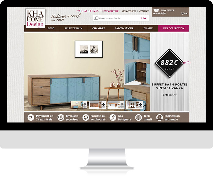 Boutique en ligne KHA Home Design