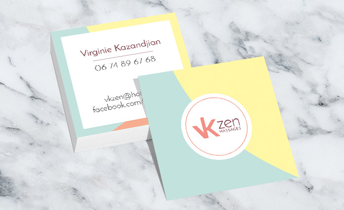 Carte de viste VK Zen Massages